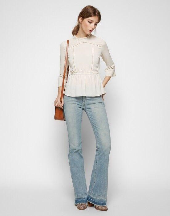 Las nuevas señoras  7 Para all Mankind Charlize Flare de súperdry para mujer Talla 27 Reino Unido 8-10 34 leg  moda clasica