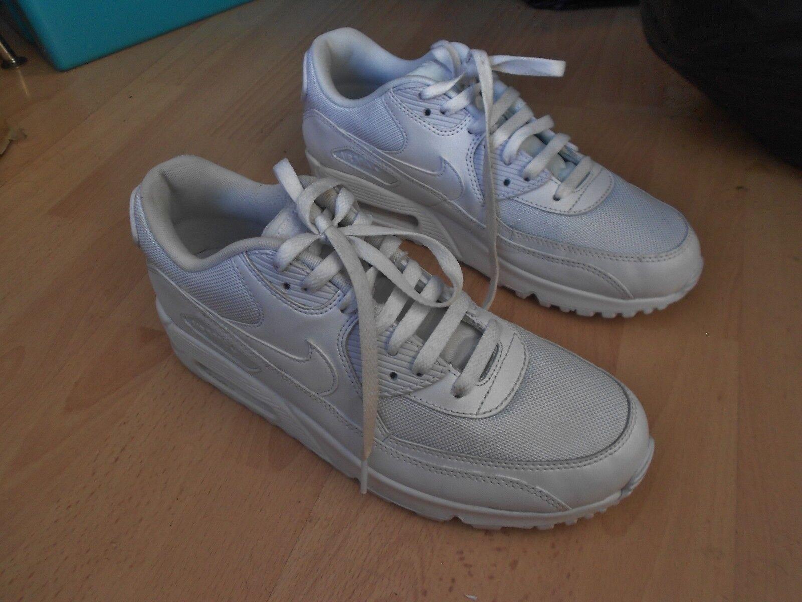 Nike Air Max 90 blancoo Correr Zapatillas Uk Talla  8-en Buenas Condiciones  garantizado