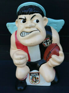 Vintage-AFL-Saints-Football-Angry-Winged-Character-Rubber-Money-box-Collectable