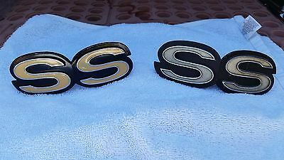 "69-72 Chevrolet "" SS "" Grille Emblems Made in the USA"