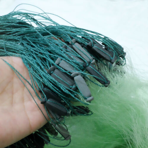 "328/'x6 1//2/' 2.75/""x2.75/"" 3 layers Fishing Net Fish Gill Net with Float Fish Trap"