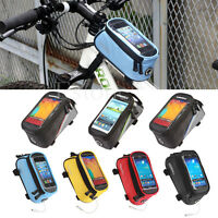 Cycling Bicycle Bike Frame Pannier Front Tube Bag Cell Phone Holder Pouch