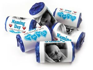Personalised-Mini-Love-Heart-Sweets-for-Naming-Day-Boy-Blue-Foils-your-Image