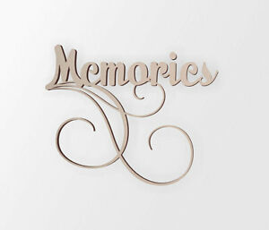 MEMORIES Wall Decor Word - Cutout, Home Decor, Unfinished