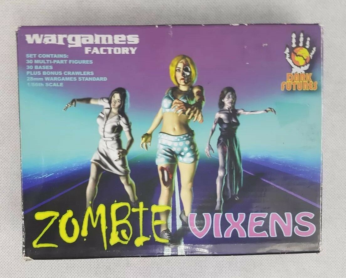 WarGames Factory Zombie Vixin's Set Of 30 Complete Figures new open box