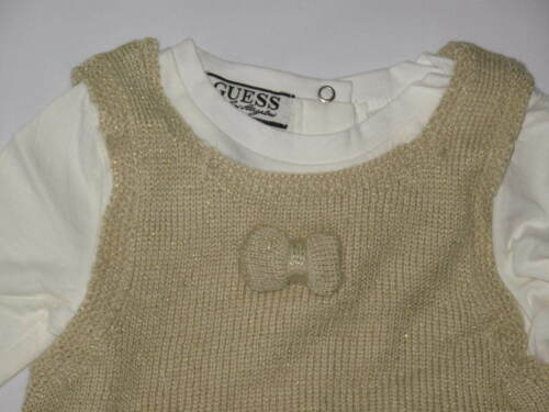 NWT GUESS 3pc set long sleeve GIRL size 18M gold