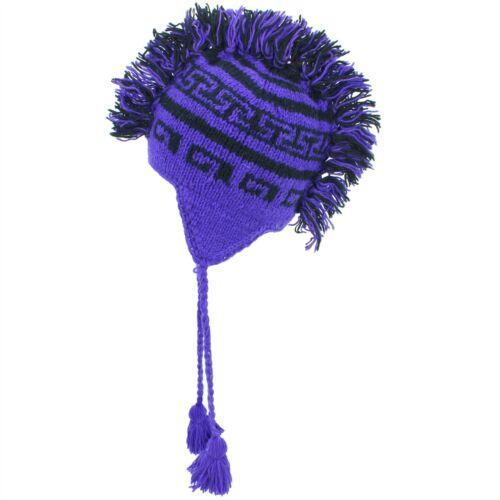 Wool Hat Mohawk Punk Tassels Knitted LoudElephant Men Ladies Warm Winter
