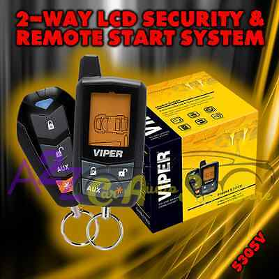 VIPER 5305V 2 WAY LCD VEHICLE CAR ALARM KEYLESS ENTRY REMOTE START SYSTEM RB