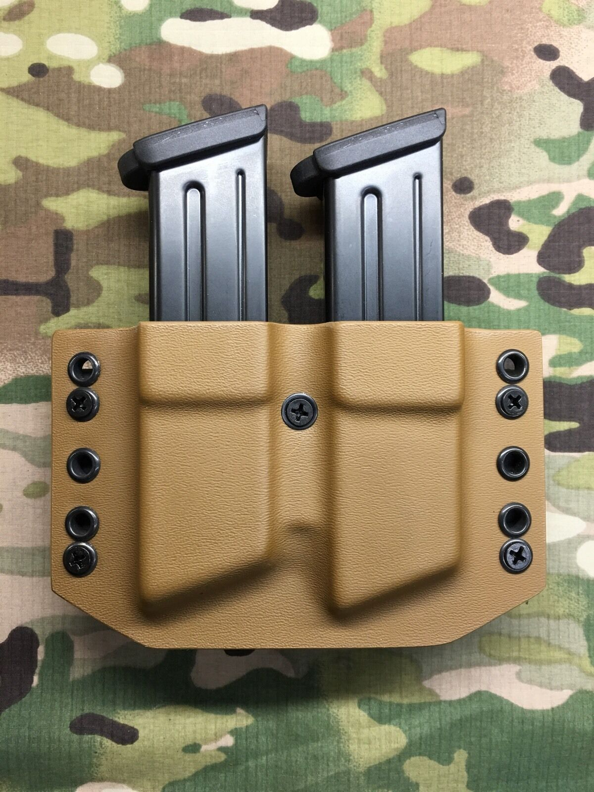 Coyote Tan Kydex Dual Magazine Carrier for HK H&K VP9 P30