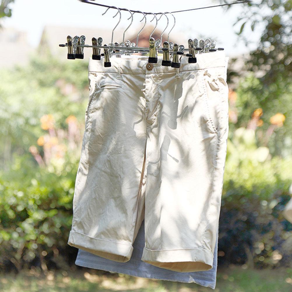 40 Pcs Adjustable Clip Pants Hangers Hook Anti-Slip Clothes Trousers Skirt Rack