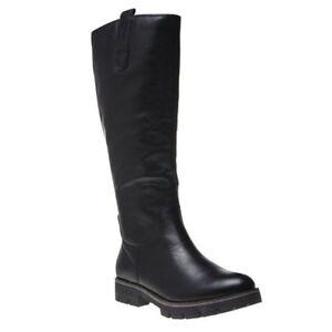 pour noir 25610 en bottes hauteur à Nouvelles du genou femmes Caprice cuir 7q4RxCw
