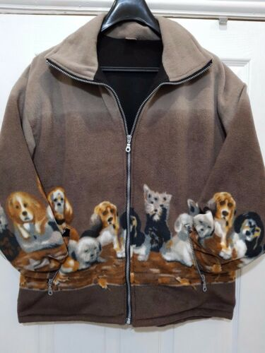 Unisex uomini donne animal print in Pile Caldo Spesso Inverno Giacca a camicia//Cappotto s-2xl