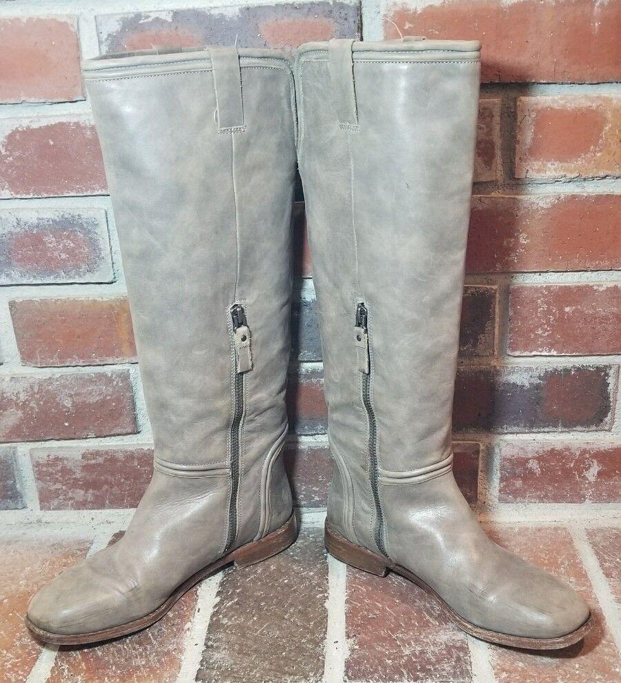 480 Modern Vintage 'Valencia' Cosmic Light Gray Riding Boots - Women's Size 37