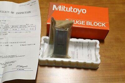 MITUTOYO 614201-531 Gage Block,Square,Steel,1.00 In,ASME 0
