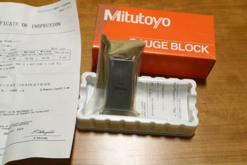Mitutoyo 50mm Calibration Inspection Square Steel Gage Block ASME Grade 0