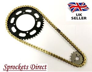 Yamaha-XV250-S-Virago-Heavy-Duty-GOLD-Chain-and-Sprocket-Kit-039-95-08