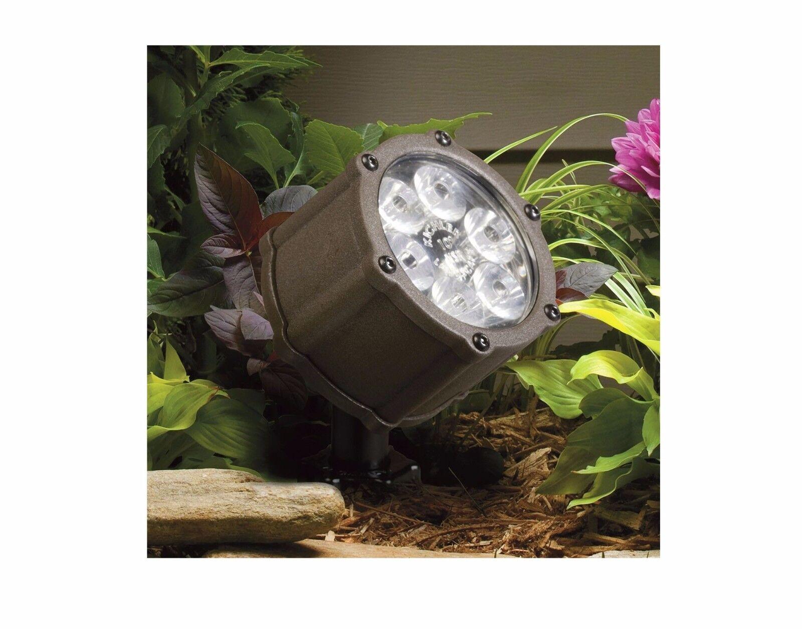 Kichler Lighting 8.5W LED luz de acento Bronce arquitectónico de textura de baja tensión