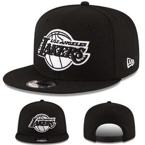 ebe72508fd5 New Era NBA Los Angeles Lakers 950 Snapback Hat Black White Cap ...