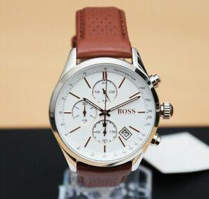 Brand-New-Hugo-Boss-Grand-Prix-Chronograph-Brown-Leather-Mens-Watch-1513475