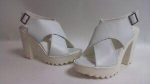 Truffle Sizes Sandals Uk 7 Chunky White 6 Collection Platform Ladies TpAwxTn1qP
