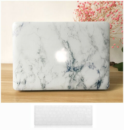 Macbook Pro 13 Case Hard Case Printed Crystal-White Marble Pattern Cover 2015