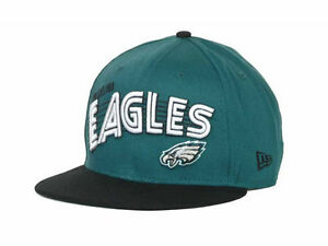 5d0d4298a7e81 New Era NFL Philadelphia Eagles Green Black 9Fifty Snapback Cap Hat ...