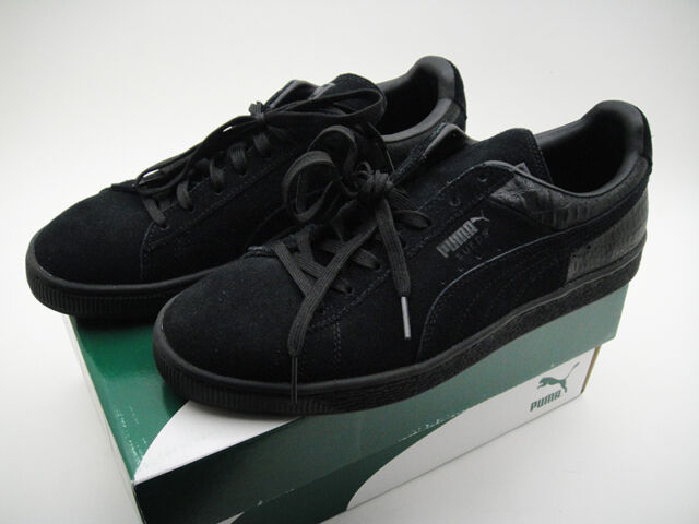 0efe67d6541f NEW MEN PUMA SUEDE CLASSIC CASUAL EMBOSS SHOES Black 36137201 Size USA 9 -  42