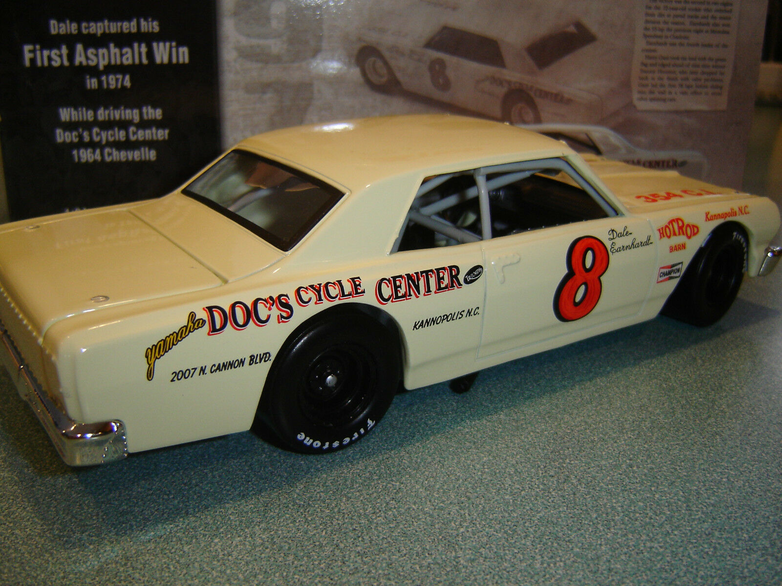 Dale Earnhardt  8 DOC'S CYCLE CENTER 1964 Chevelle 1 24 Action Preowned