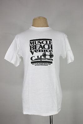 Brillant Vintage Muskel Strand T-shirt M L 80's 90's Venezien California Ca Los Angeles Dinge Bequem Machen FüR Kunden
