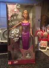 Barbie-estrella de cine, estrellas de cine, filmster-PÚRPURA VESTIDO-Coleccionistas -