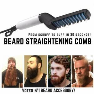 Hair-Straightener-For-Men-Multifunctional-Curling-Electric-Brush-Beard-Comb-US