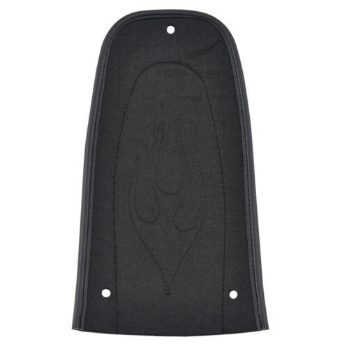Black Flame Rear Fender Bib Leather Solo Seat For Harley Street Glide FLHT FLTR