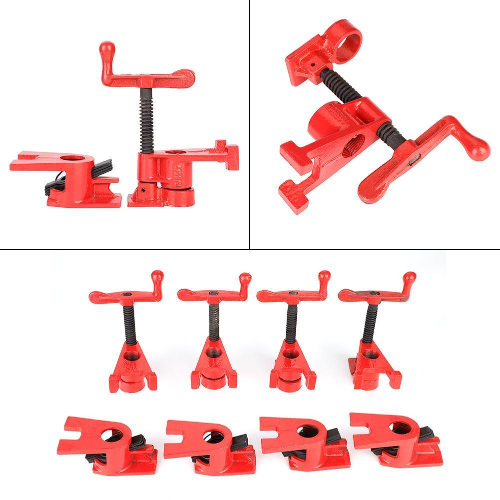 """8Pcs(4 set) 3/4"""" Clamping Blocks Pipe Clamps Woodworking Joint Hand Tool Set Red 4"""