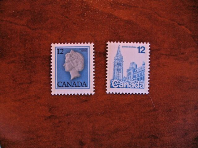 Canada First Class Definitive 1977-1982 #713-714 parliament and QEII VFNH single
