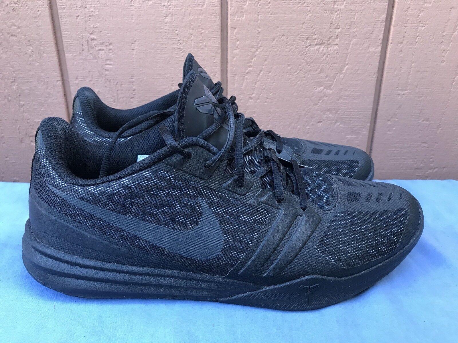 EUC! Nike Kobe KB Men US 11 Mentality Black Anthracite Basketball 704942-002 A7