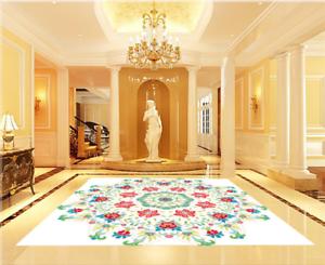 3D tan Floral Piso impresión de parojo de papel pintado mural 563 5D AJ Wallpaper Reino Unido Limón