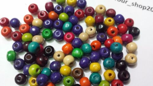 100 en bois ronde//blotter Perles Spacer Perles Fabrication de Bijoux