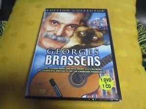 """COFFRET DVD + CD NEUF """"GEORGES BRASSENS : LES IMAGES DE SA VIE + SES PLUS GRANDS"""