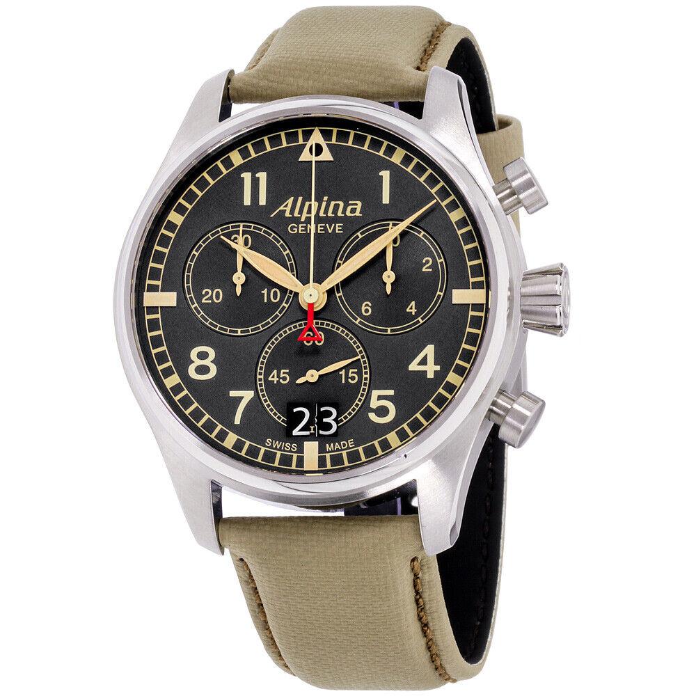 Alpina Startimer Quartz Movement Grey Dial Men's Watch AL-372BGR4S6 | Ebay