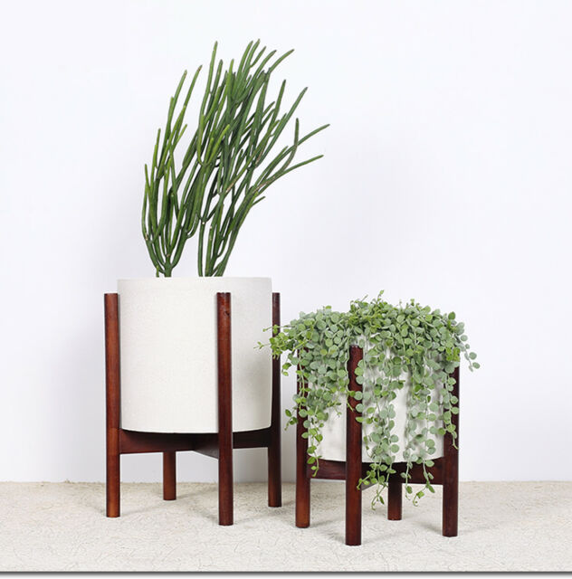 Riseon Mid Century Modern Plant Stand Wood Indoor Flower Pot Holder