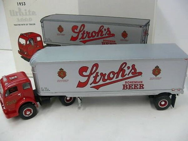 1 34 First Gear 1953 blanc 3000 1953 sz strohs Beer 19-1917