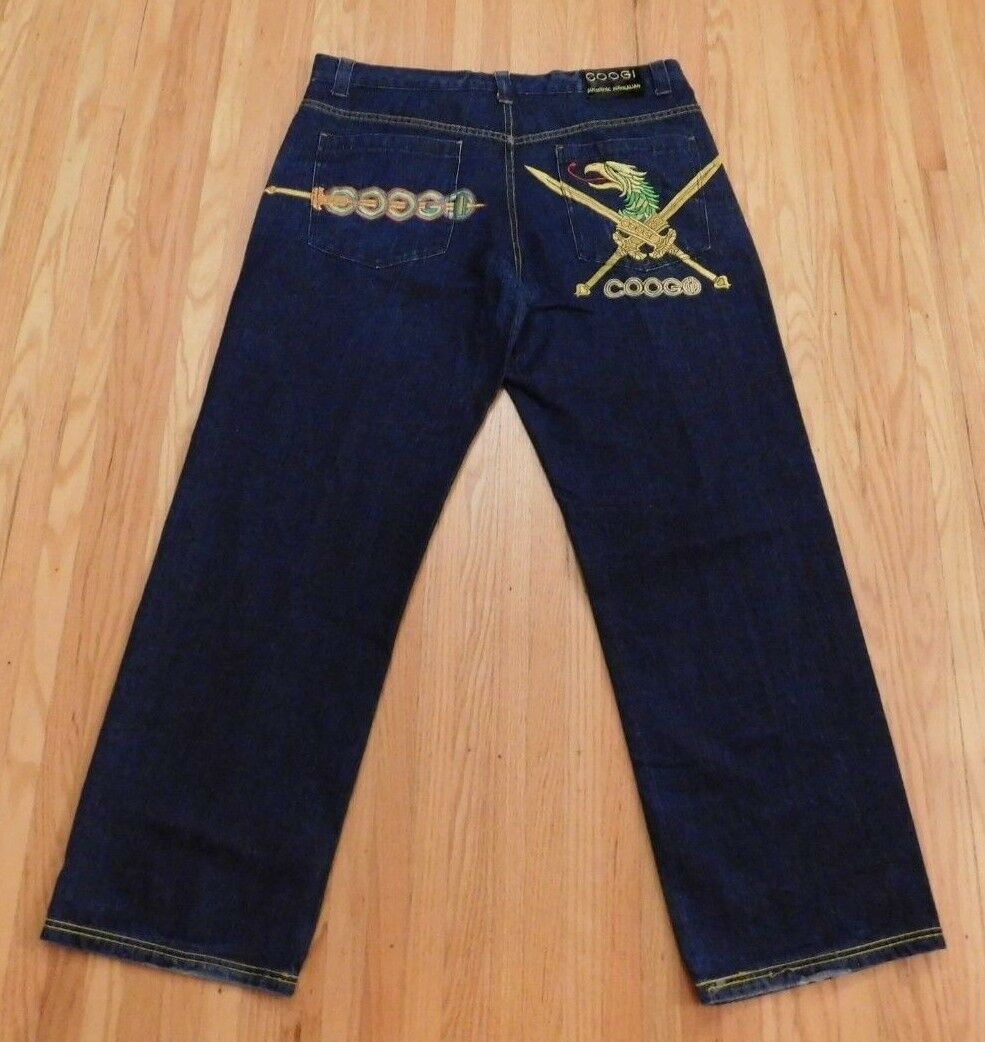 MENS JEANS COOGI JEANS MENS SIZE 40 x 341 4 STYLISH EMBROIDERY Bright colors