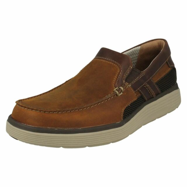 b72750cd3a8 Mens Clarks Un Abode Casual Slip on Shoes G Fitting UK 9.5 Light Tan  (brown) for sale online