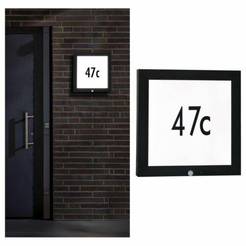 Outdoor Panel 400x400mm IP44 13W 230V Anthrazit Hausnummer mit Bewegungsmelder