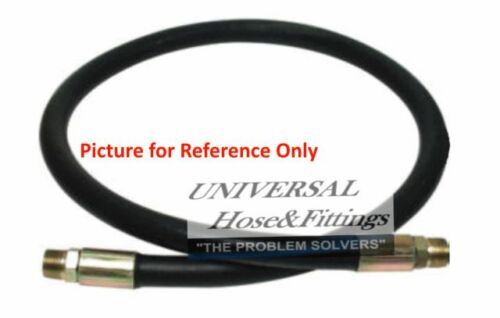 "1//2/""X72/"" 2-WIRE Hydraulic Hose Assembly w//Male NPT Rigid /& Swivel Ends"