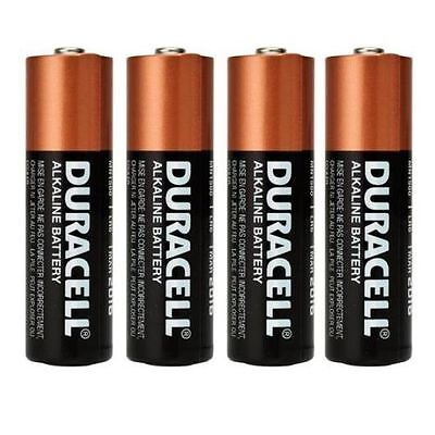 Duracell® Size AA LR6 MN1500 Alkaline Cell Battery Batteries 1.5V - Pack of 4