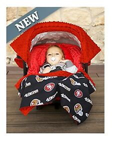 b1dcbb4e8ff NFL Licensed 5pc Whole Caboodle ~ SAN FRANCISCO 49ERS ~ Infant Car ...