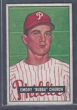 1951 Bowman #149 Emory Church Pitcher Philadelphia Phillies EX Plus