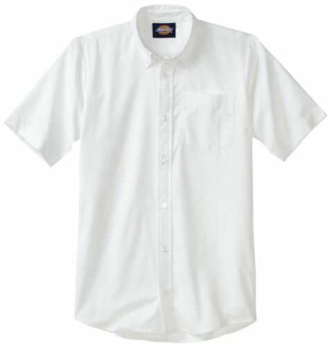 Dickies Boys White Oxford Shirt Button Down Short Sleeves  Sizes S to XL