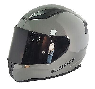 LS2 FULL FACE FF353 RAPID MOTORCYCLE MOTORBIKE HELMET GREY DARK VISOR